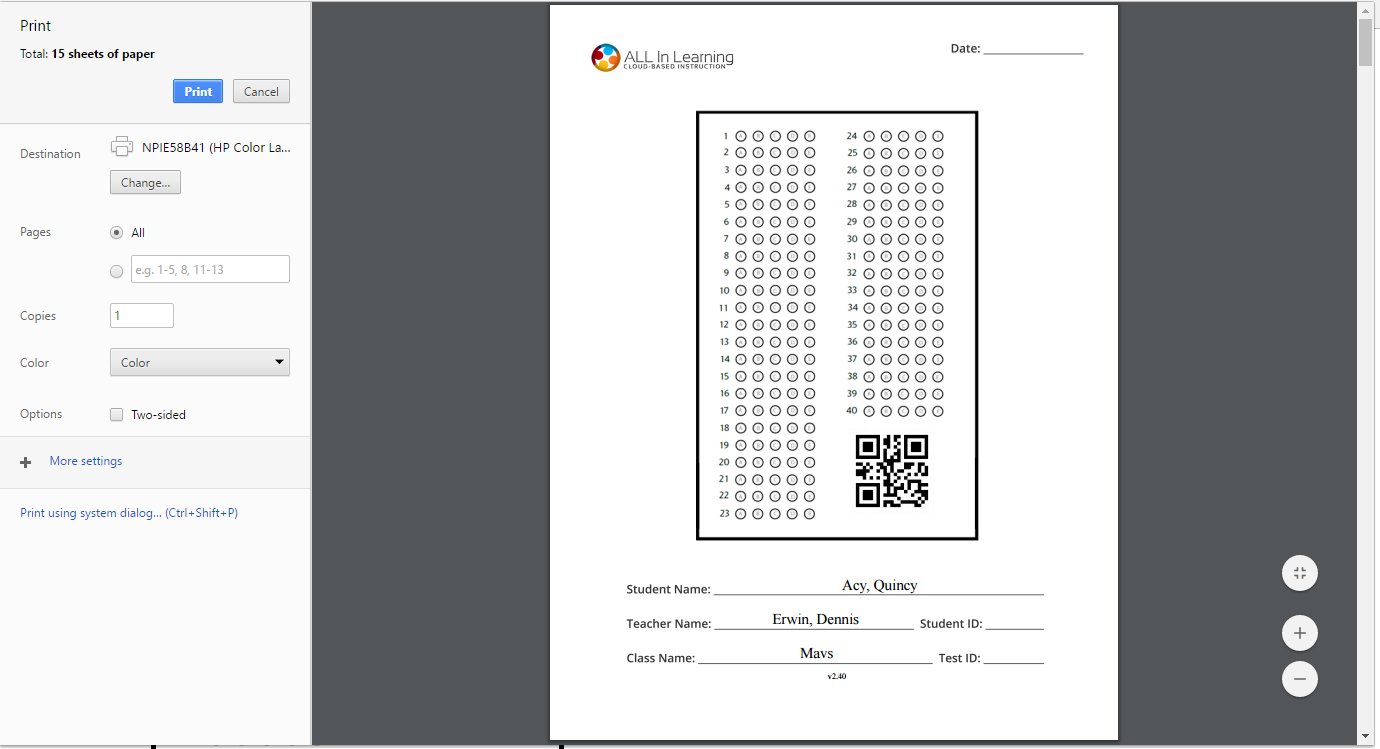 blank or missing bubble sheets when printing with chrome u2013 help